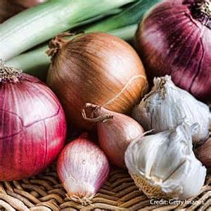 Onions, Shallots and Garlic