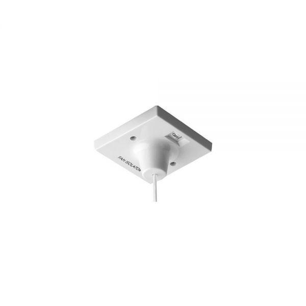 BG Nexus White 10A - Triple pole fan isolator, with cord.