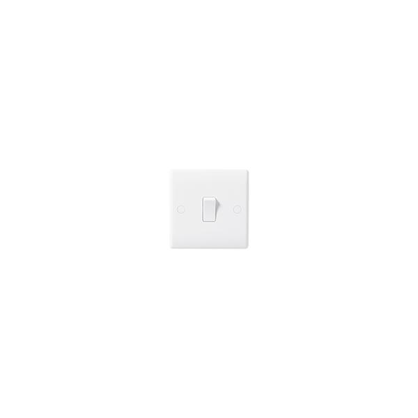 BG Nexus White Round Edge - 1 gang Intermediate switch.