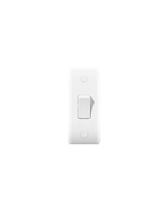 BG Nexus White Round Edge - 1 gang, 2 way Architrave Switch.