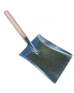 9 Inch Hand Shovel, Galvanised Metal with wooden handle.