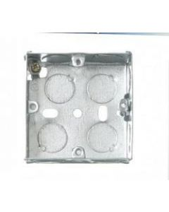 CONTACTUM, 1 Gang 25mm Galvanised, Metal Steel Flush Back Box.