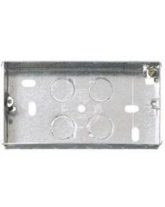 CONTACTUM, 2 Gang 25mm Galvanised, Metal Steel Flush Back Box.