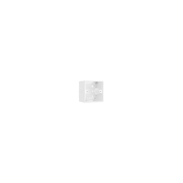 BG Nexus White Round Edge - 1 gang surface pattress for socket outlet 50mm.