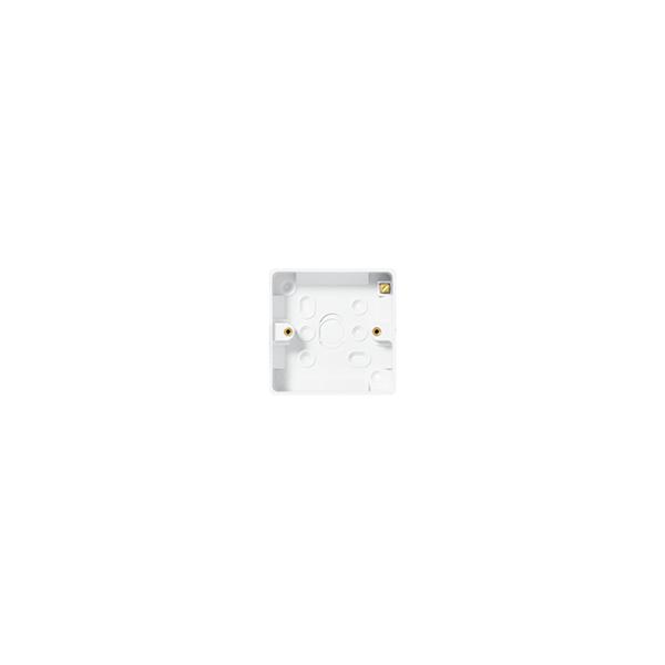BG Nexus White Round Edge - 1 gang surface pattress for socket outlet 32mm.