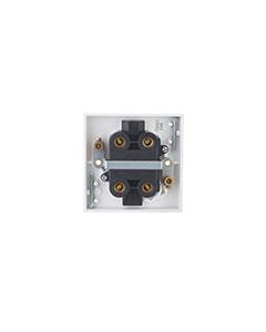 BG Nexus White Round Edge Ceiling Switch - 45A double pole with indicator