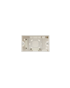BG Nexus White Round Edge - 2 gang surface pattress 50mm.