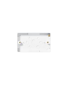 BG Nexus White Round Edge - 2 gang surface pattress 32mm.